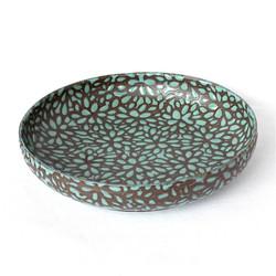 Modern Floral Low Bowl