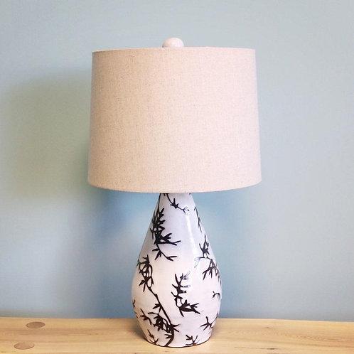 Bamboo Print Teardrop Lamp