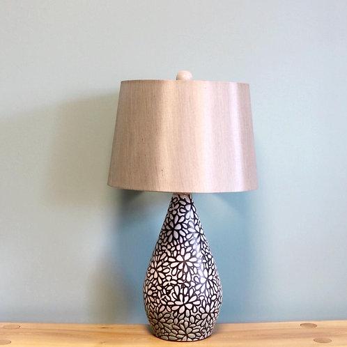 Modern Floral Teardrop Lamp