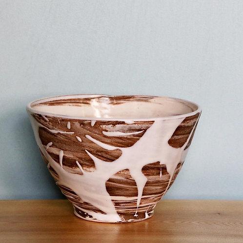 Tropical Leaf Tea Bowl