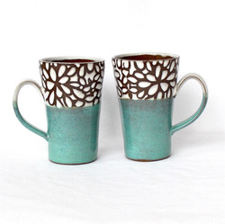Modern Floral Mugs