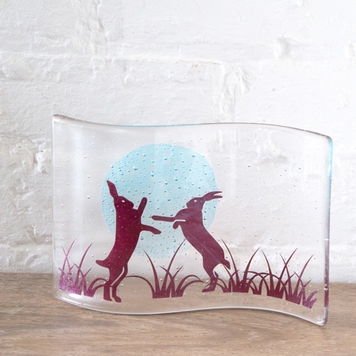 Becky Haywood Glass Box Hares