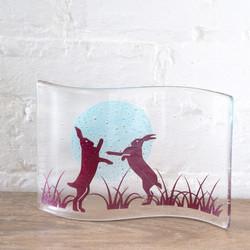Becky Haywood Glass Box Hares