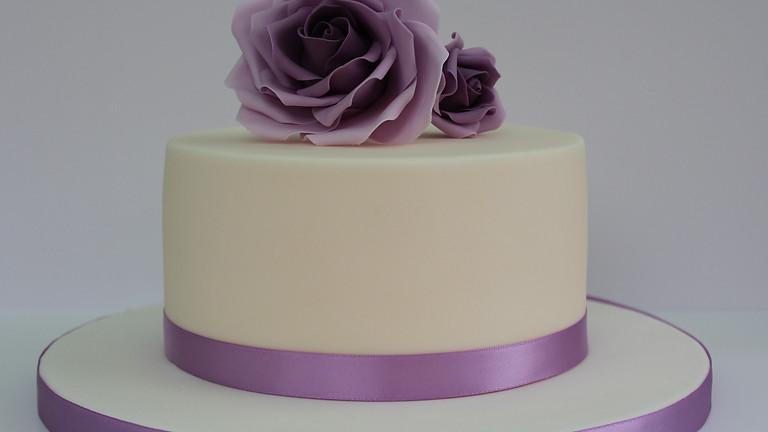 Sharp Edge Rose Chocolate Cake Class £99