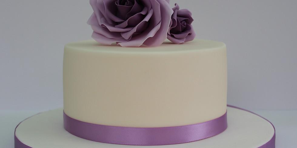 Sharp Edge Rose Chocolate Cake Class