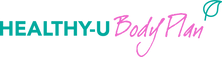 A logo design featuring Turquoise and pink text for Healthy-U Nutrition by Ros O'Donnell Design