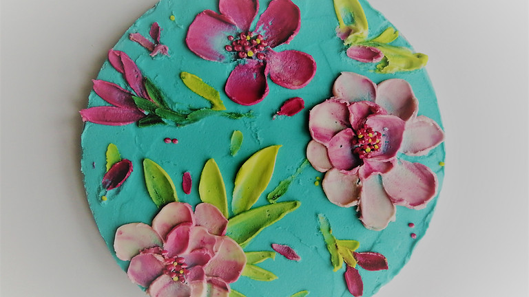 Buttercream Floral Palette Knife Painting