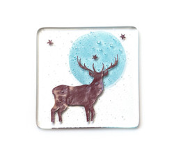 Becky Haywood Glass stagcoaster