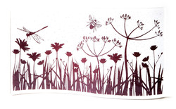 Becky Haywood Glass meadow panel