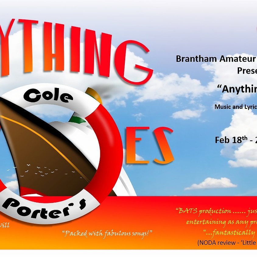 Anything Goes! - Wednesday 19th February 2020