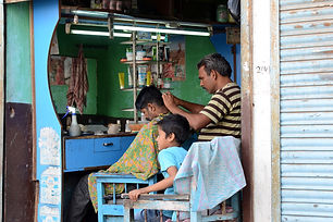 Barbershop in India