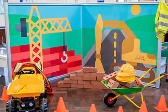 Construction scene from mobile play centre Little City