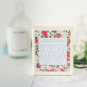 Photograph showing Charlotte Harley Candle, packaging and candle