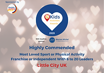 What's On for Kids Highly Commended Award