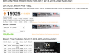 Investing In Cryptocurrency - Bitcoin Prediction