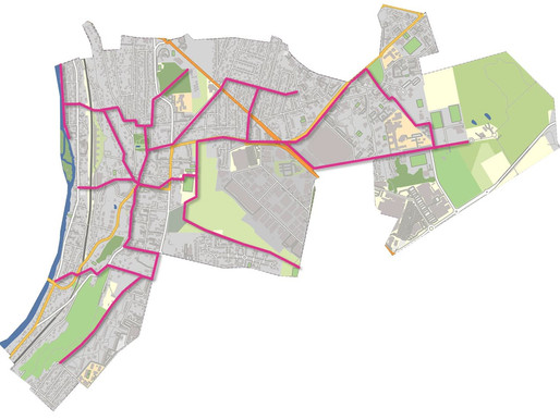 Circulation douce pour piétons et vélos à Chennevières