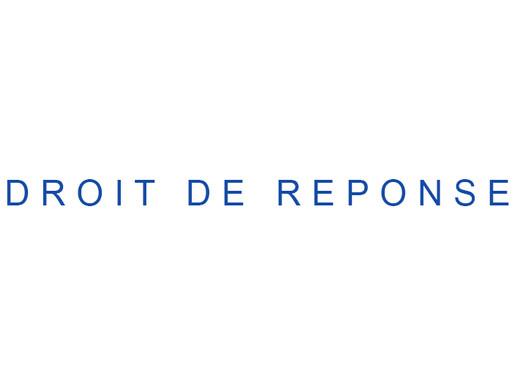 Droit de réponse de l'avocat de Jean-Pierre Barnaud