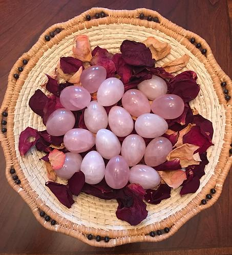 GIA Certified Rose Quartz Yoni Egg. Medium