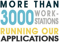 more than 3000 workstations running