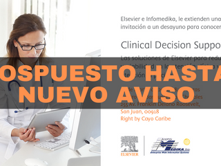 Actividad de Elsevier Pospuesta hasta nuevo aviso
