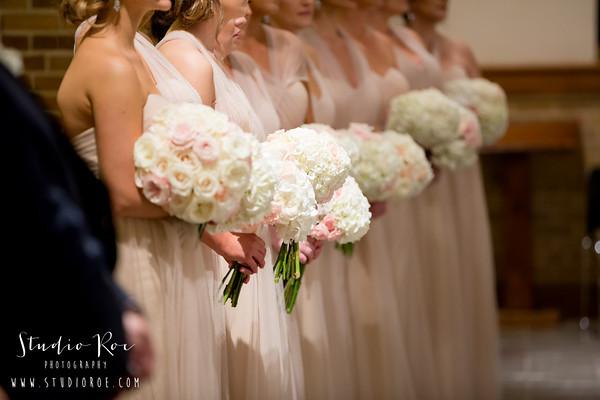 Michelle Marzoni bridesmaid bouquets.