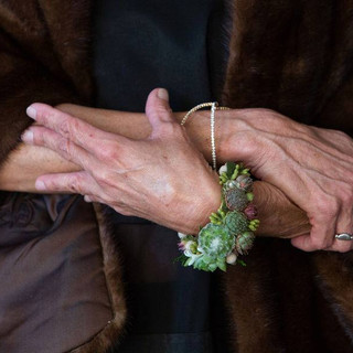 Mother of the Bride succulent cuff - Sab
