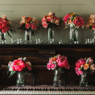Bright bouquets striking a chord