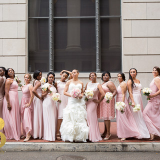 King-Richard. New Orleans wedding, pretty maids in pink
