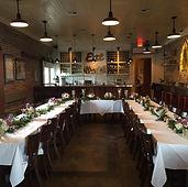 Rehearsal Dinner @ Lola Restaurant, Covington, LA., pretty centerpieces