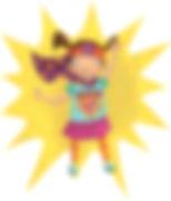 Superhero Girl Fighting The Measly Virus