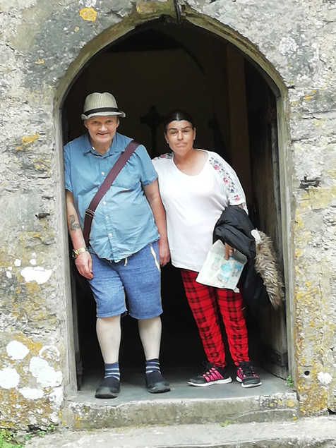 MM PP visiting Caldey island.JPG