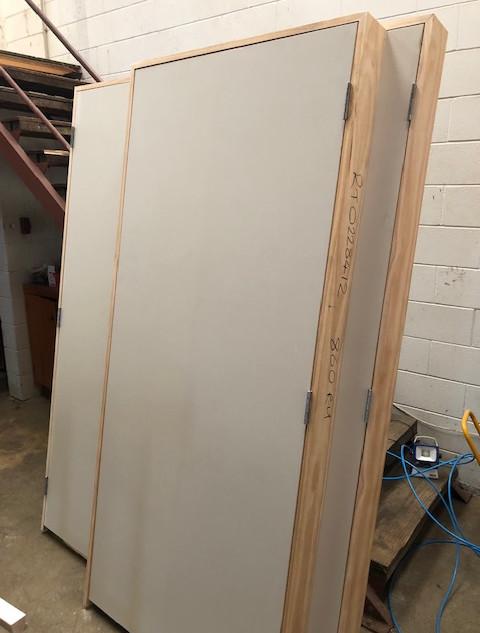 Pre-hung door ready to go
