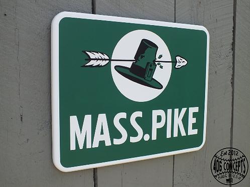Vintage Mass. Pike Sign