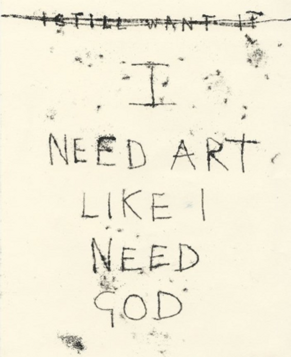 i need art - t emin