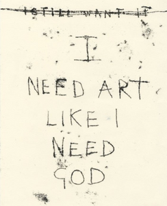 i need art - t emin