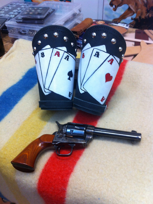 Aces and Eights Cowboy Cuffs