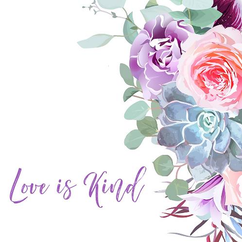 Love Is Kind Wedding Cards