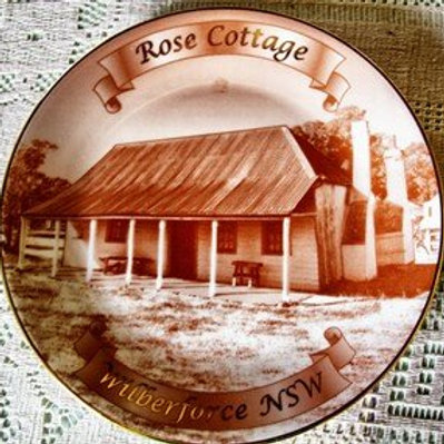 Rose Cottage China Plate