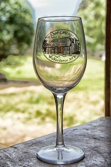 Rose Cottage Wine Glass