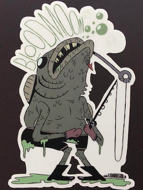 BLOODMOON UNDERGROUND - Fish Sticker
