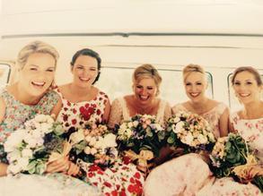Mix and match floral bridesmaids