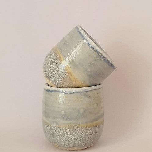 33. set of 2 piccolo cups blue