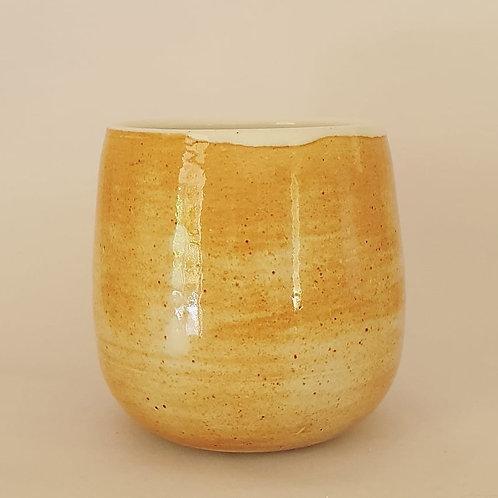 ocher yunomi cup