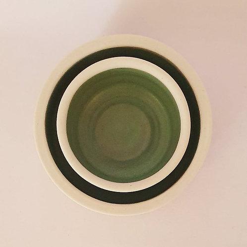 set of 2 ramekins jade green