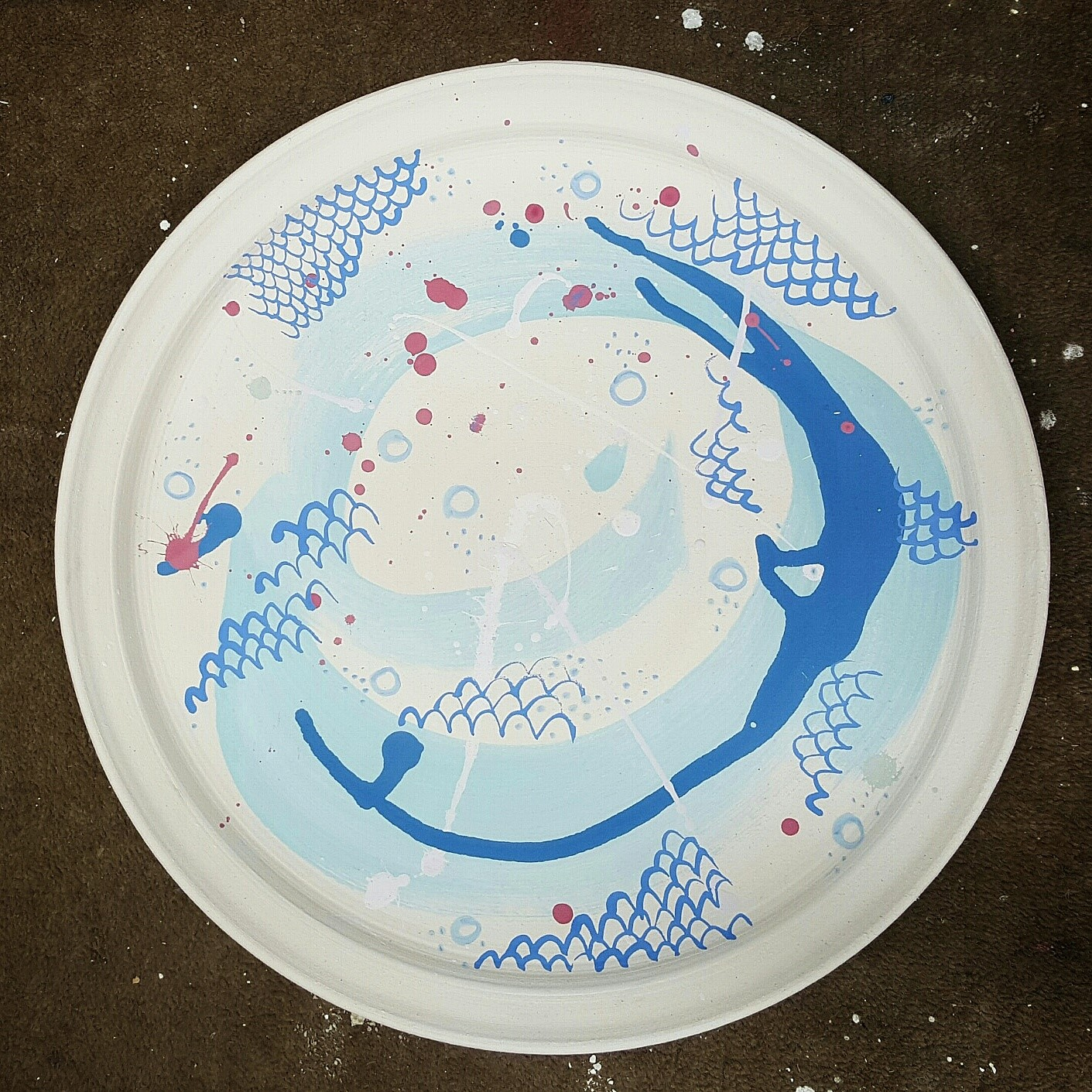 platters hand painted