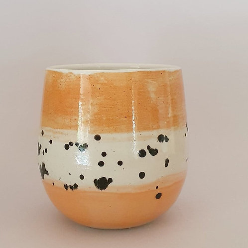 2. yunomi ochre w ink spots