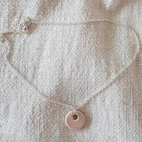 blush dew drop necklace