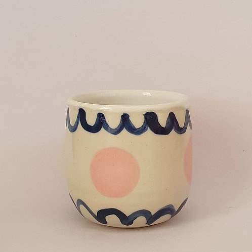 35. piccolo cup navy pattern