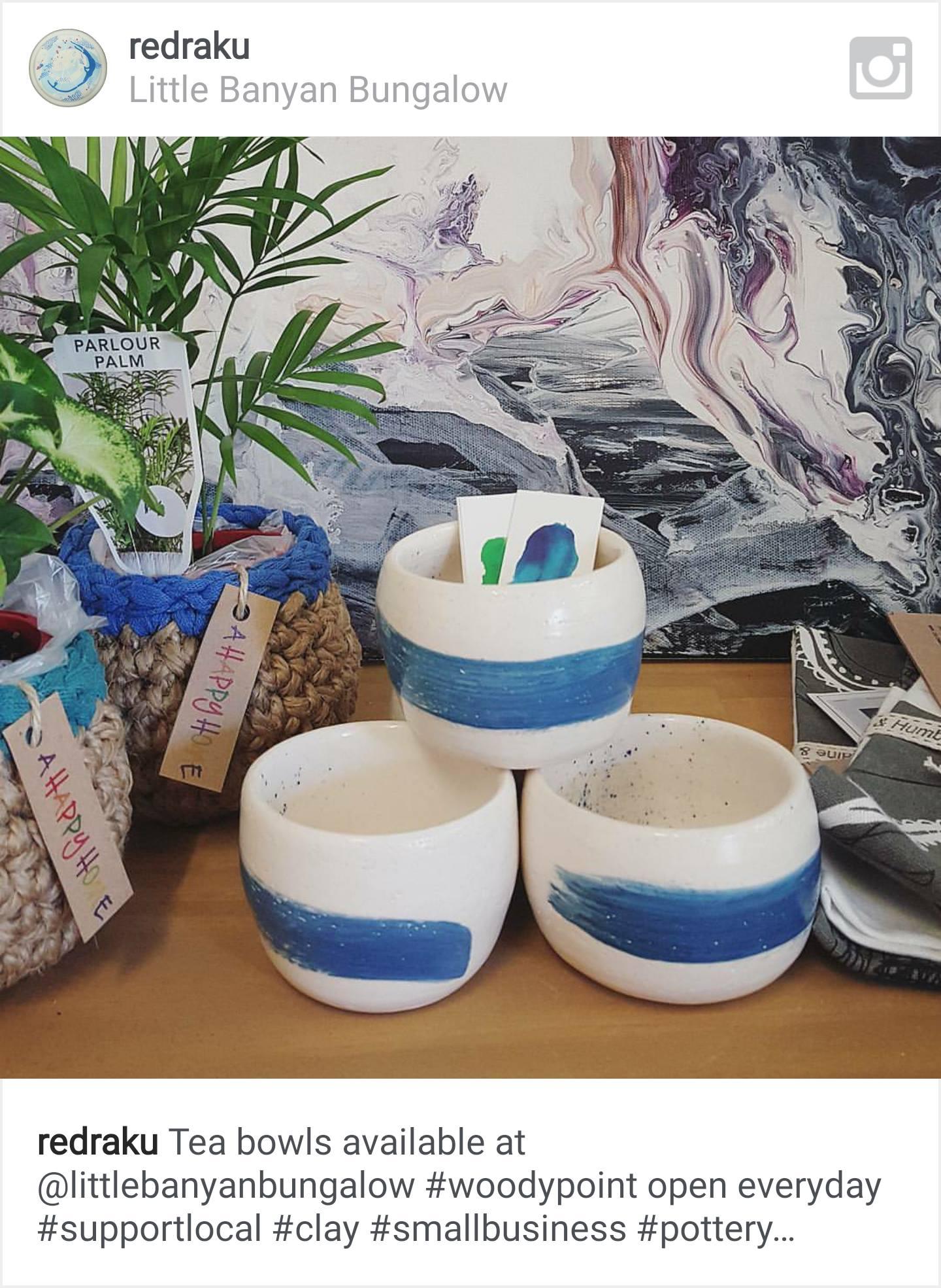 turquoise tea bowls