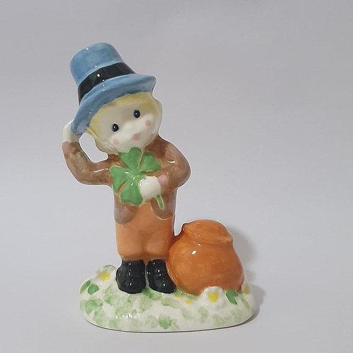 24. Irish boy with four leaf clover